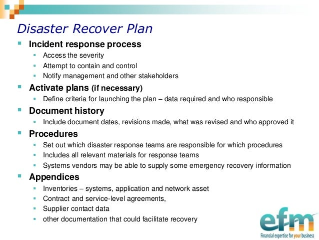 Disaster Recovery Plan - Planning Against A Cyber Attack