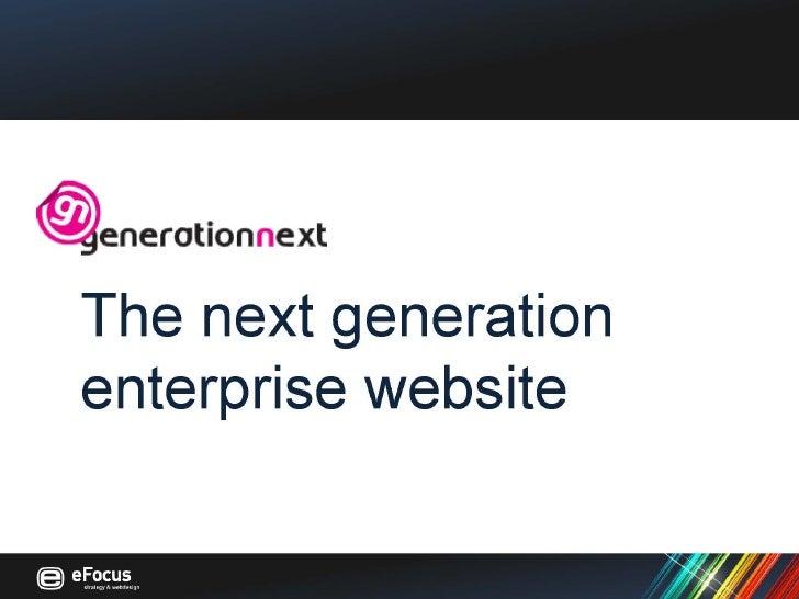 Generation Next eFocus presentatie