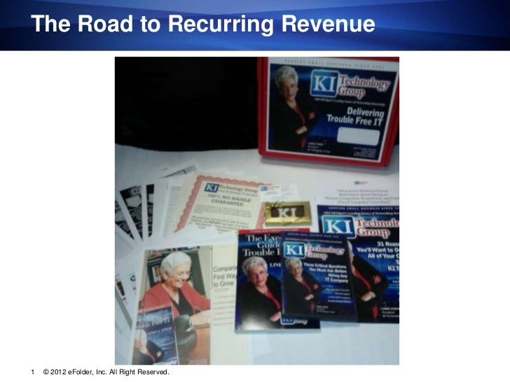 The Road to Recurring Revenue1   © 2012 eFolder, Inc. All Right Reserved.