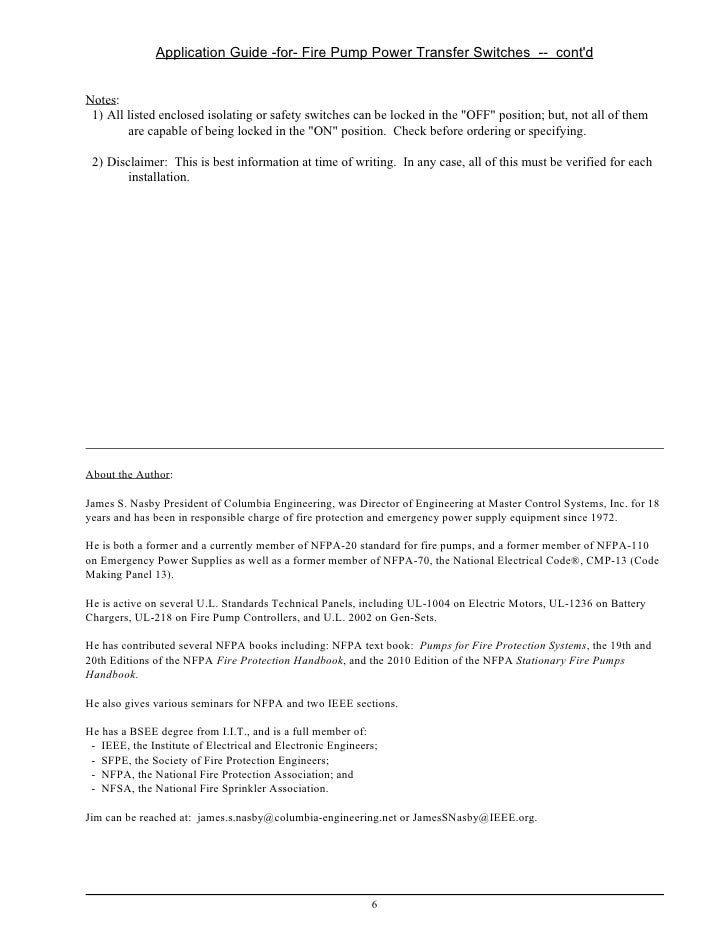 fire pump transfer switch requirements for arrangement ii 5 6 application guide for fire pump power transfer switches