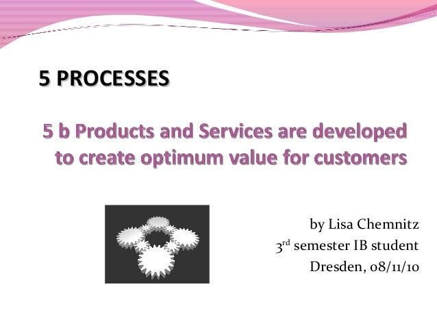 by Lisa Chemnitz 3rd semester IB student Dresden, 08/11/10 5 PROCESSES5 PROCESSES