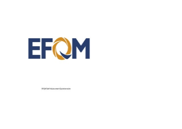 EFQM Self-Assessment Questionnaire
