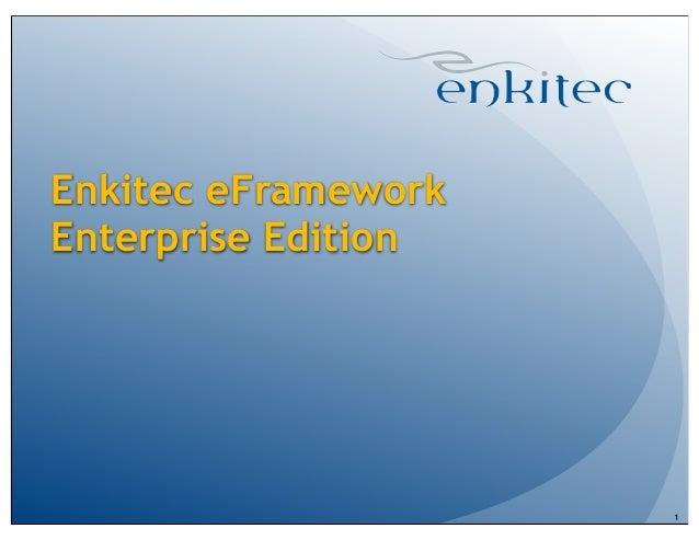 Enkitec eFrameworkEnterprise Edition1