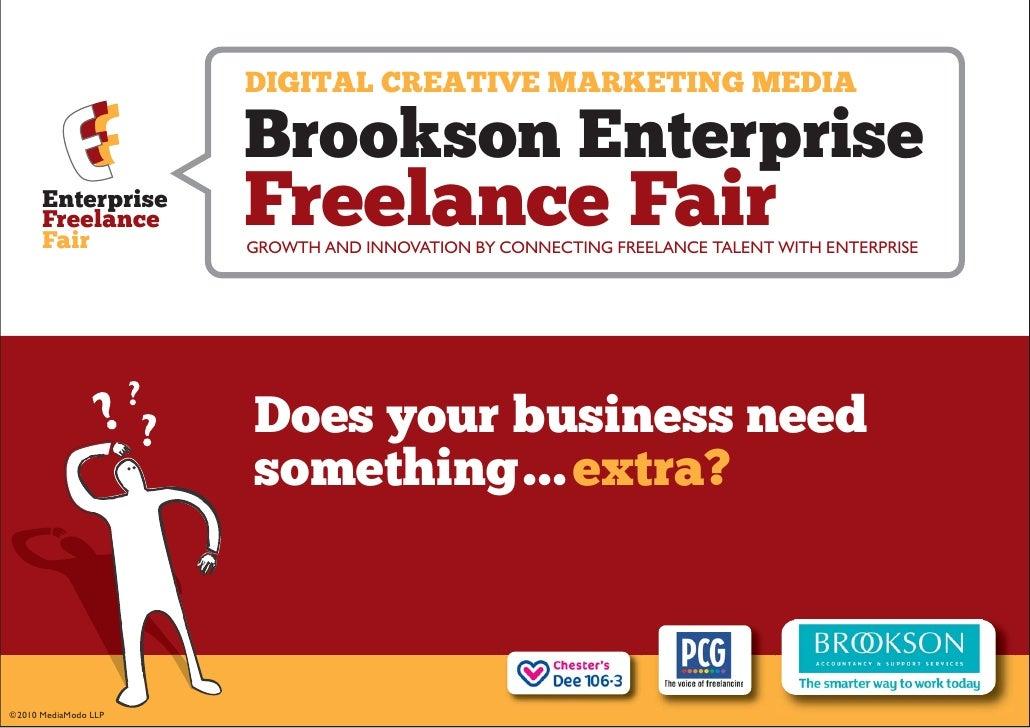 DIGITAL CREATIVE MARKETING MEDIA                        Brookson Enterprise       Enterprise       Freelance       Fair   ...