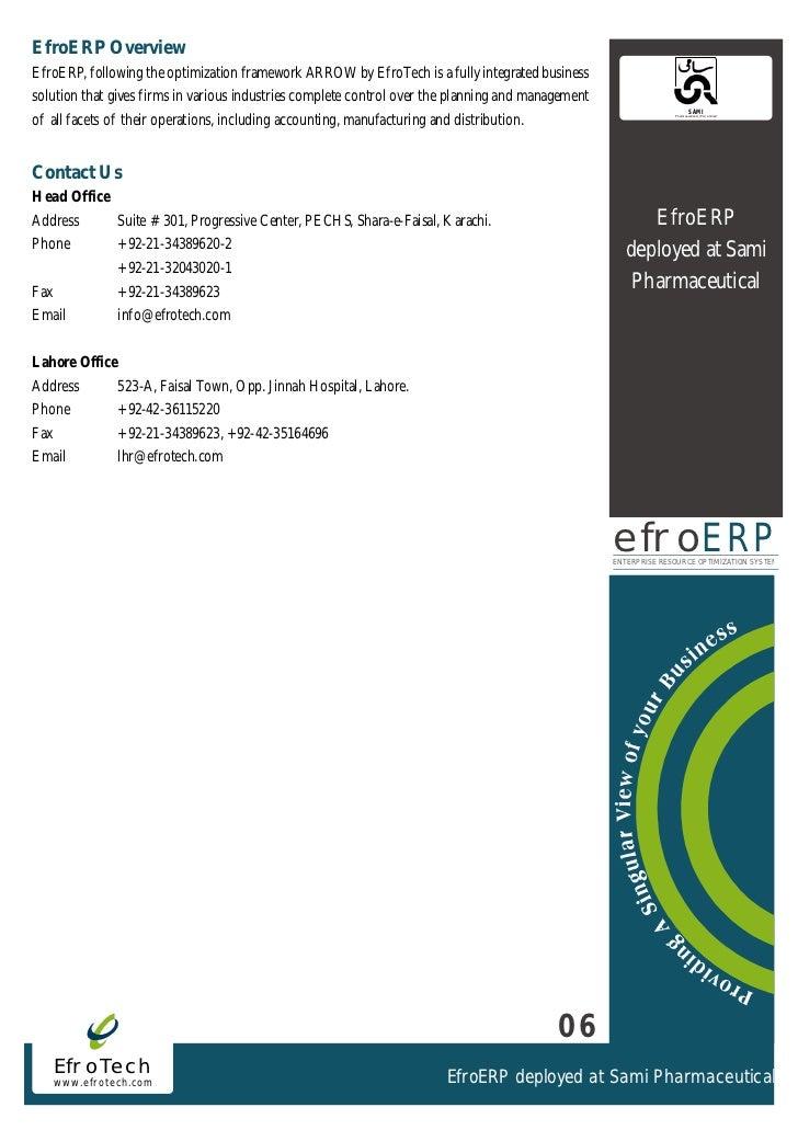 EfroERP CaseStudy-Sami Pharmaceuticals Pakistan