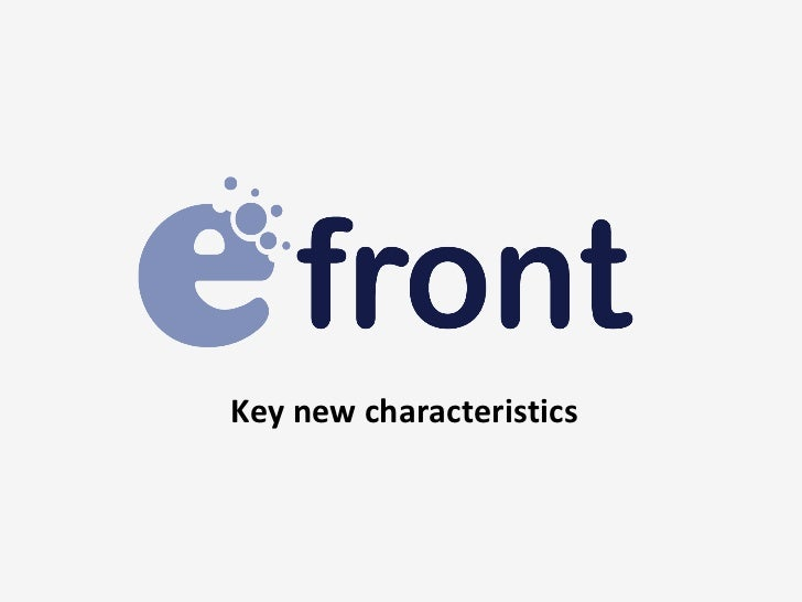 Key new characteristics