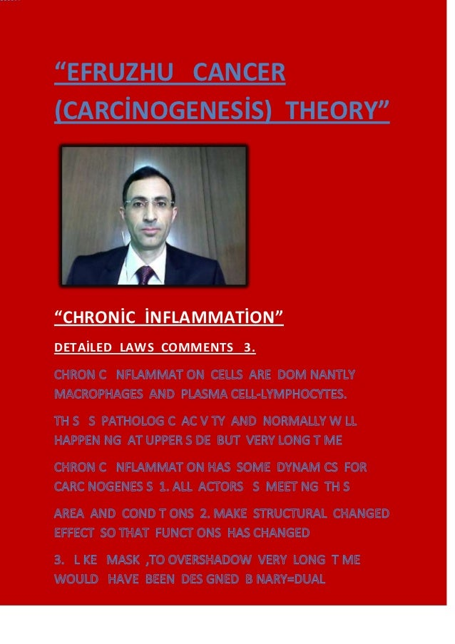 """EFRUZHU CANCER(CARCİNOGENESİS) THEORY""""CHRONİC İNFLAMMATİON""DETAİLED LAWS COMMENTS 3."
