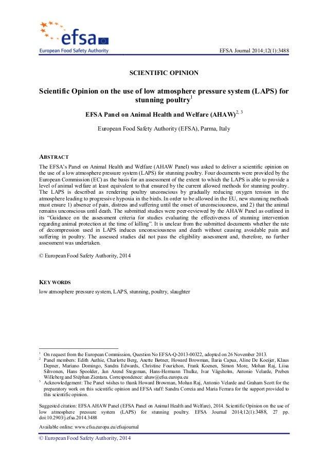 EFSA Journal 2014;12(1):3488 Suggested citation: EFSA AHAW Panel (EFSA Panel on Animal Health and Welfare), 2014. Scientif...