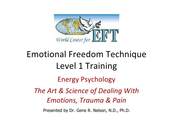 Emotional Freedom Technique Level 1 Training Energy Psychology The Art & Science of Dealing With Emotions, Trauma & Pain P...