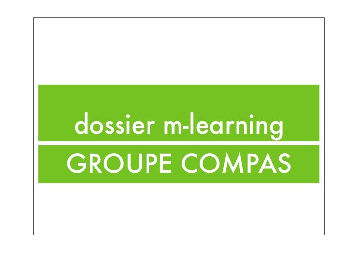 dossier m-learningGROUPE COMPAS