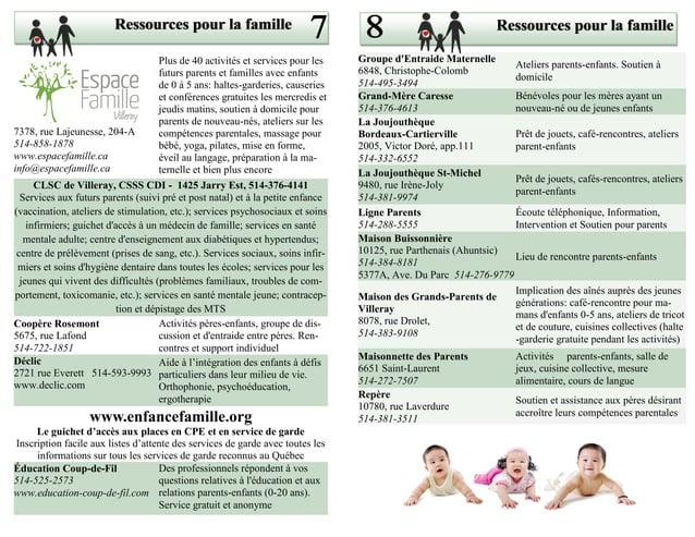 Ressources pour la famille                                                              Ressources pour la famille        ...