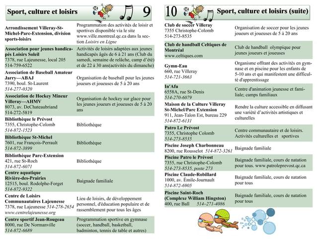 Sport, culture et loisirs                                                                             Sport, culture et lo...