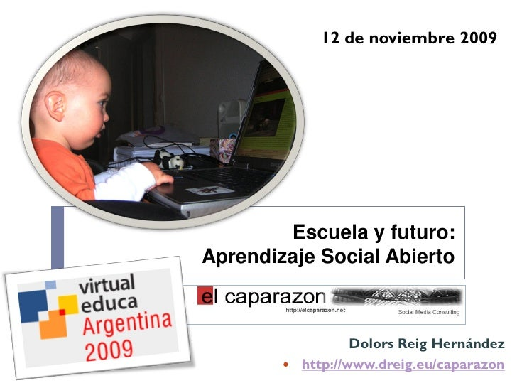 12 de noviembre 2009     Entornos Personales de Aprendizaje                    Escuela y futuro:            Aprendizaje So...