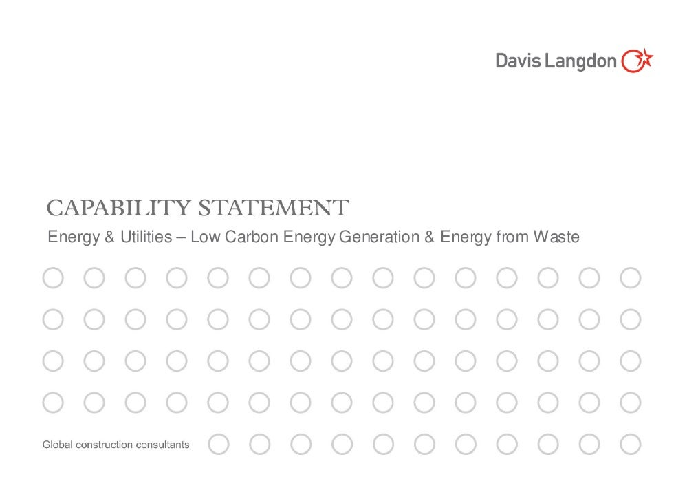 Energy & Utilities – Low Carbon Energy Generation & Energy from Waste