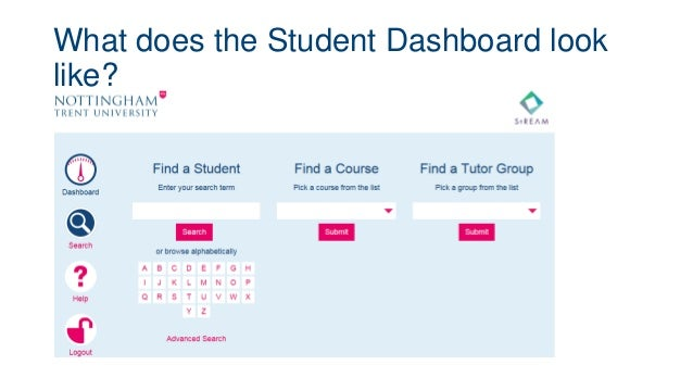 What does the Student Dashboard look like?