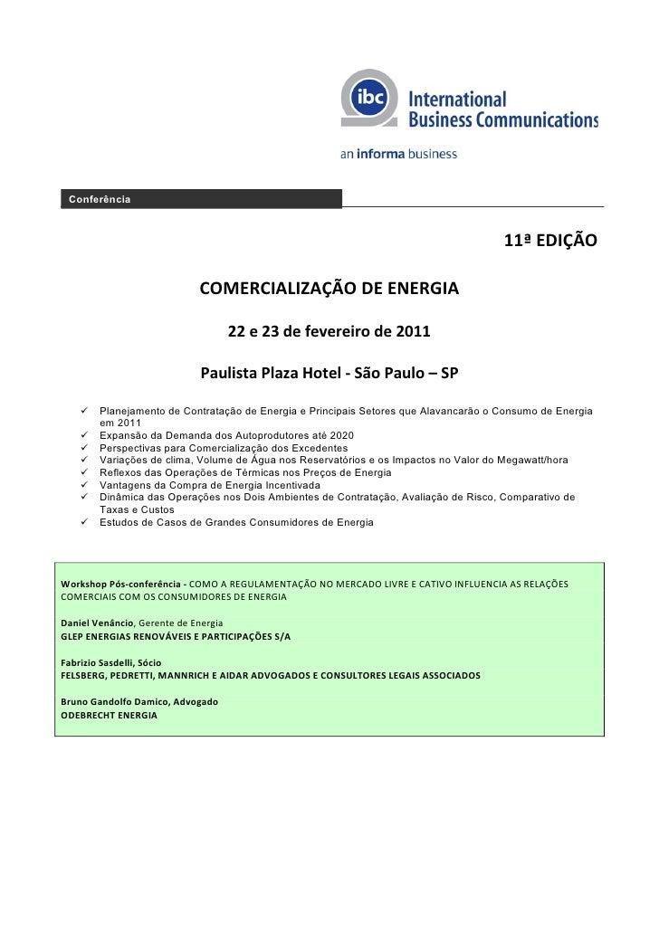 Conferência                                                                                     11ª EDIÇÃO                ...