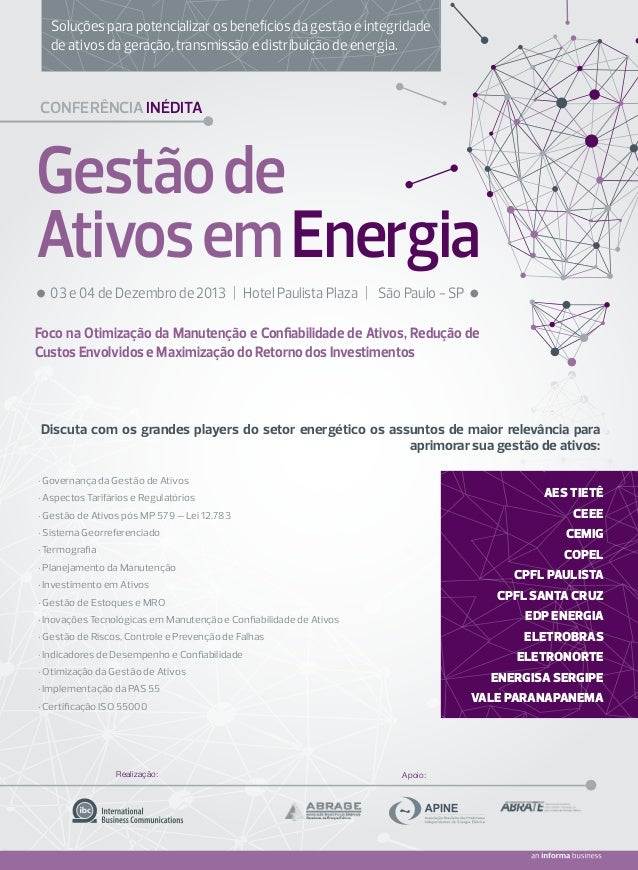 Soluções para potencializar os benefícios da gestão e integridade de ativos da geração, transmissão e distribuição de ener...