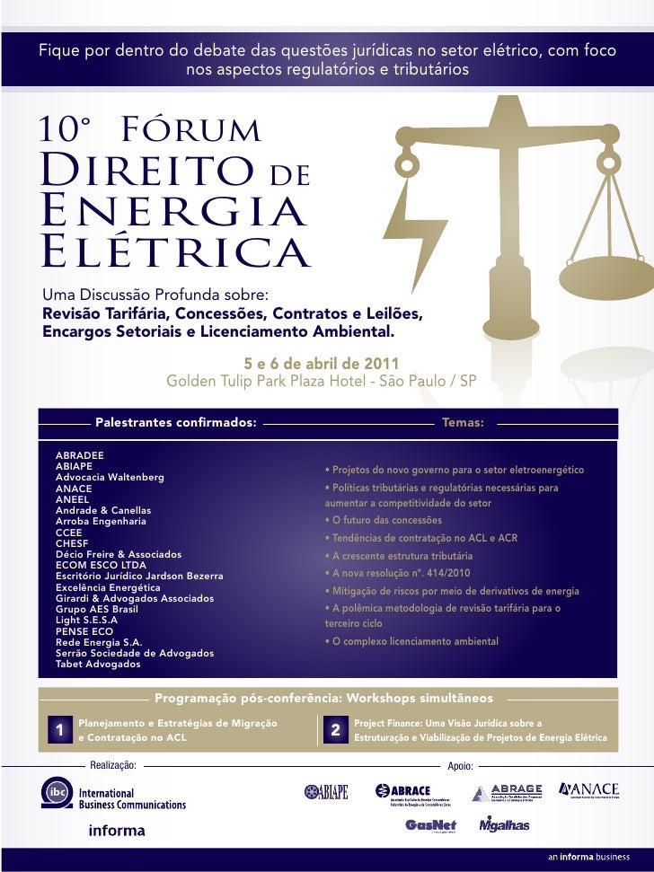 Fique por dentro do debate das questões jurídicas no setor elétrico, com foco                   nos aspectos regulatórios ...