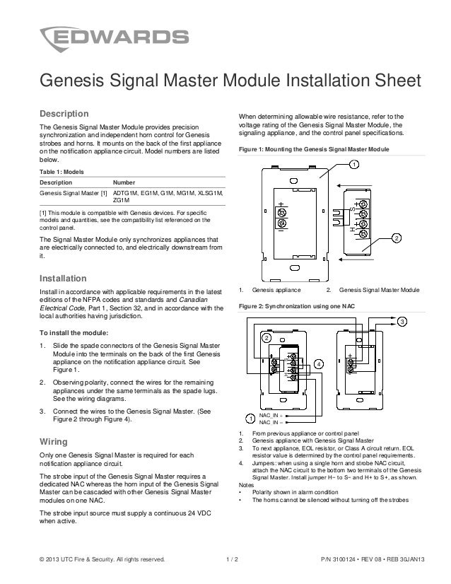 Edwards Signaling Eg1m Installation Manual
