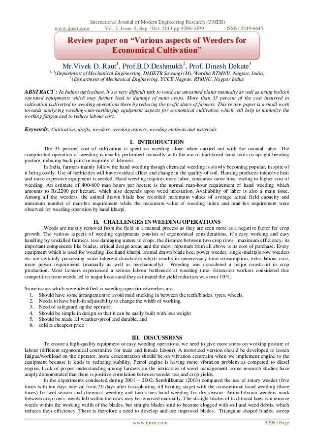 www.ijmer.com  International Journal of Modern Engineering Research (IJMER) Vol. 3, Issue. 5, Sep - Oct. 2013 pp-3296-3299...