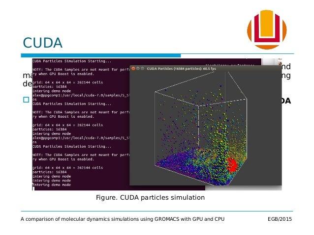 A comparison of molecular dynamics simulations using GROMACS with GPU…