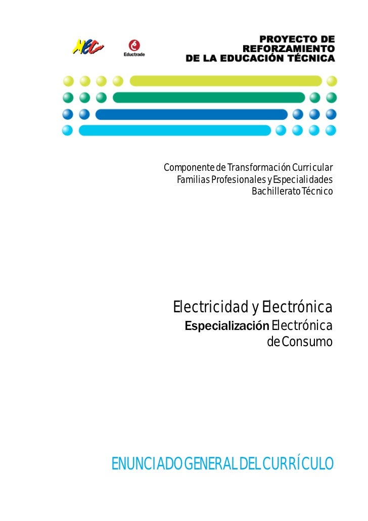 Componente de Transformación Curricular         Familias Profesionales y Especialidades                            Bachill...