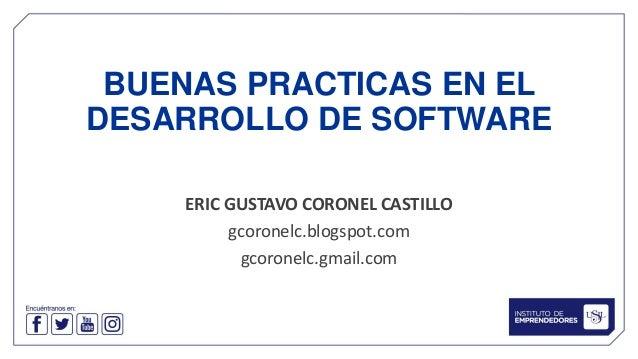 Buenas Practicas en el Desarrollo de Software Slide 2