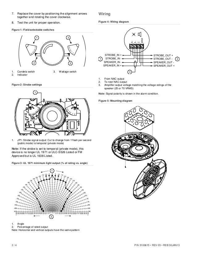 Edwards Signaling EGCF-S7VMH Installation Manual