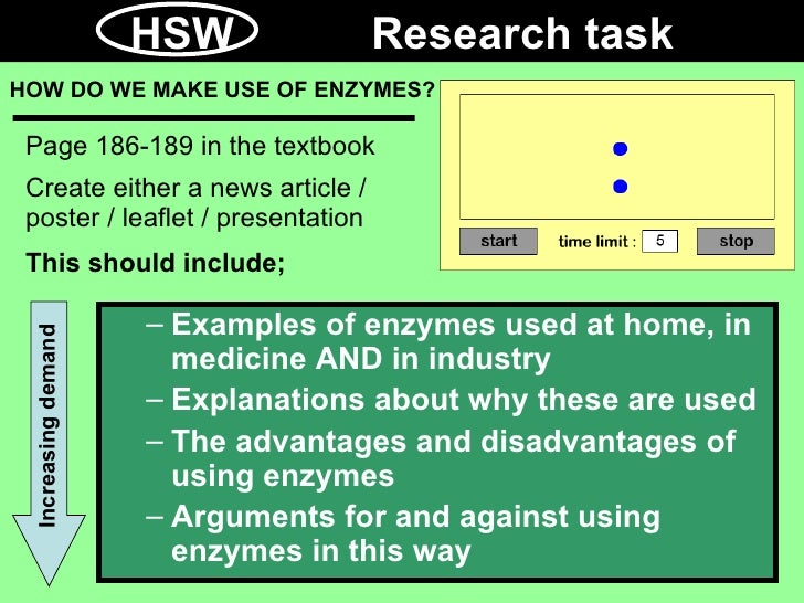 enzymes in industry essay