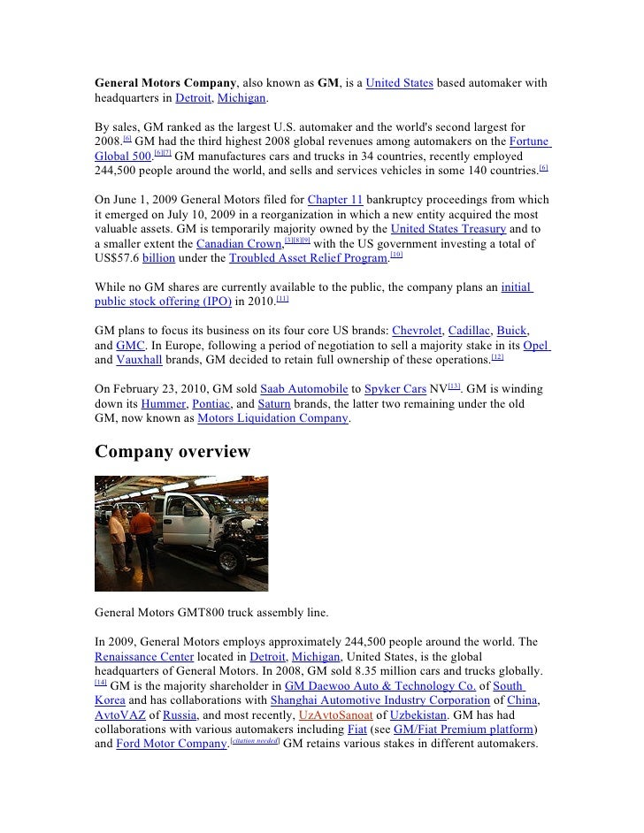 e general motors company rh slideshare net