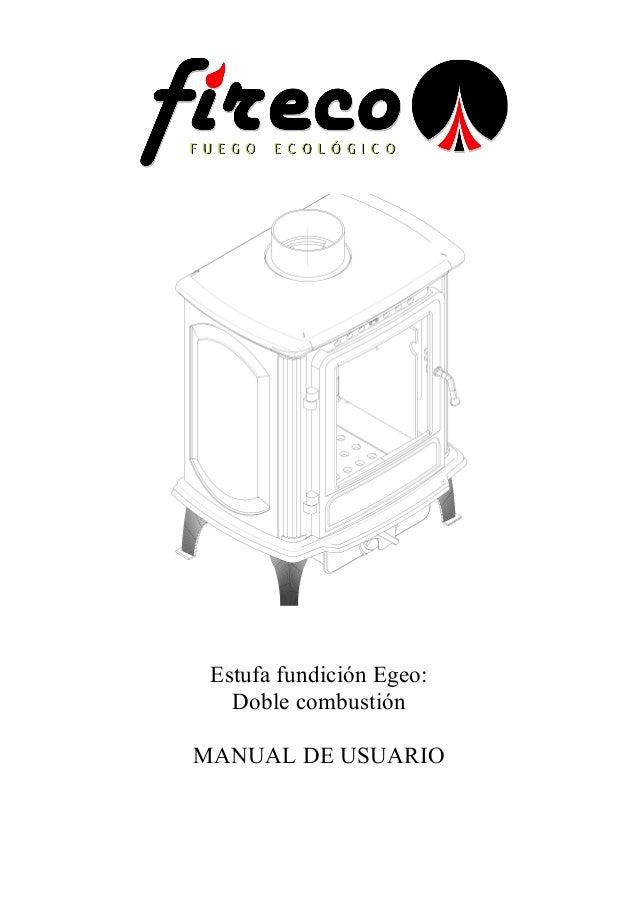 Manual de instrucciones Egeo