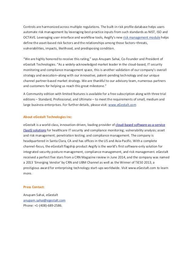 eGestalt Aegify Solution Receives the Highest Five-Star rating from SC Magazine Slide 2
