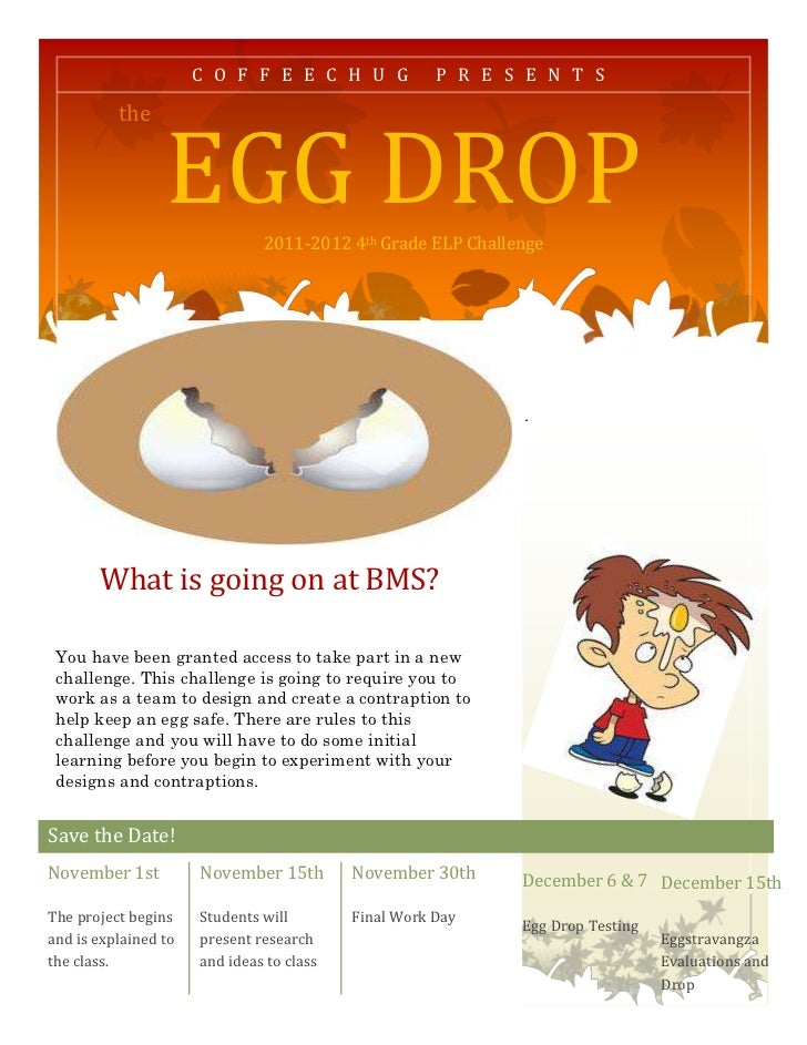 egg drop essay Egg drop experiment - varsity tutors scholarship essay looking back at what i have done in high school, i would say getting an a on my egg drop project in my physics class was my greatest academic achievement.