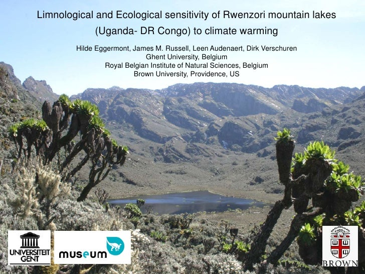 Limnological and Ecological sensitivity of Rwenzori mountain lakes             (Uganda- DR Congo) to climate warming      ...