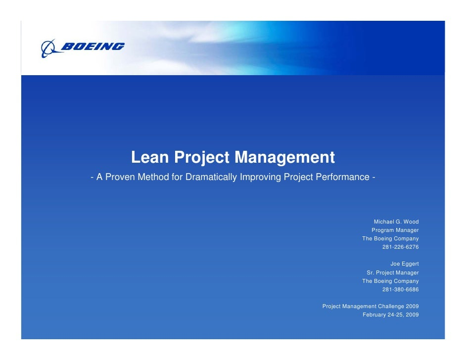 Lean Project Management- A Proven Method for Dramatically Improving Project Performance -                                 ...