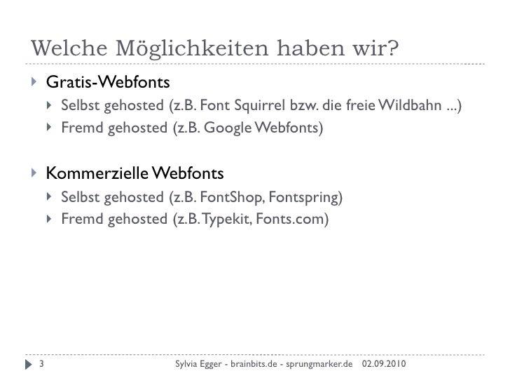 Webfonts in der Praxis - Teil 1 -  Slide 3