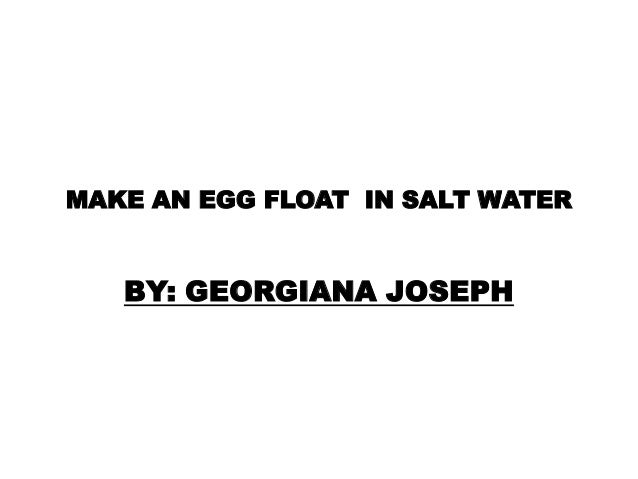 how to tell if eggs are good by floating