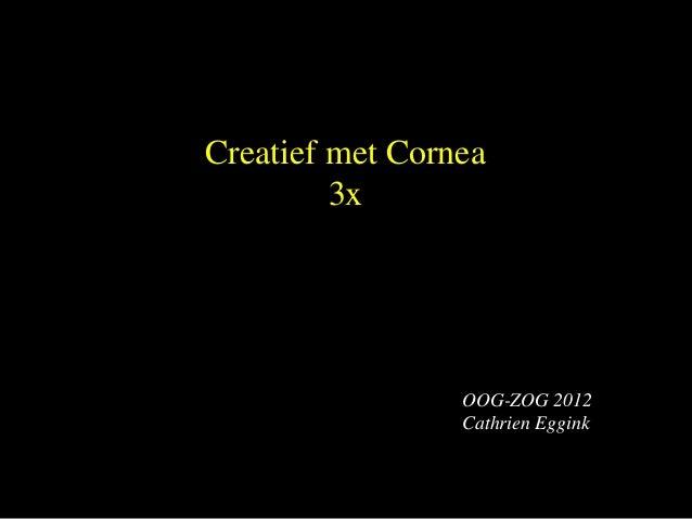 Creatief met Cornea         3x                 OOG-ZOG 2012                 Cathrien Eggink