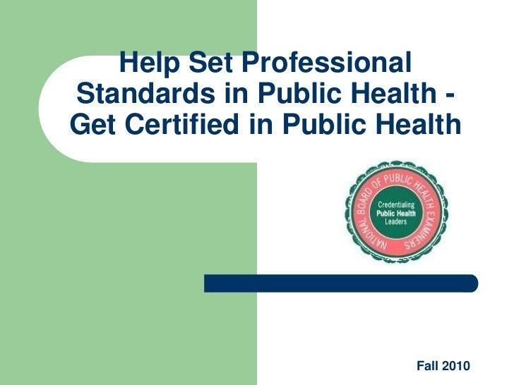 Public Health Professionals