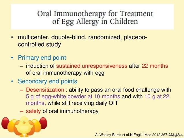 Allergy egg white