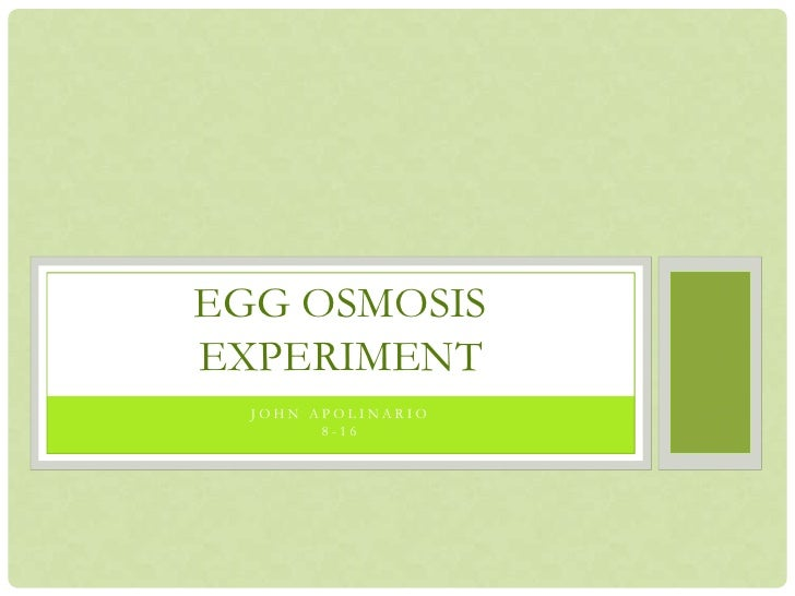 Egg osmosis experiment