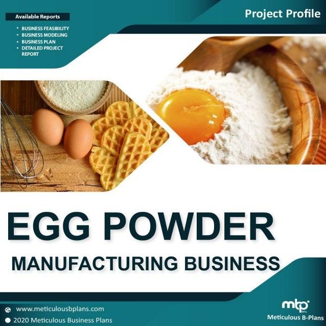 Egg Powder Manufacturing / Processing Unit