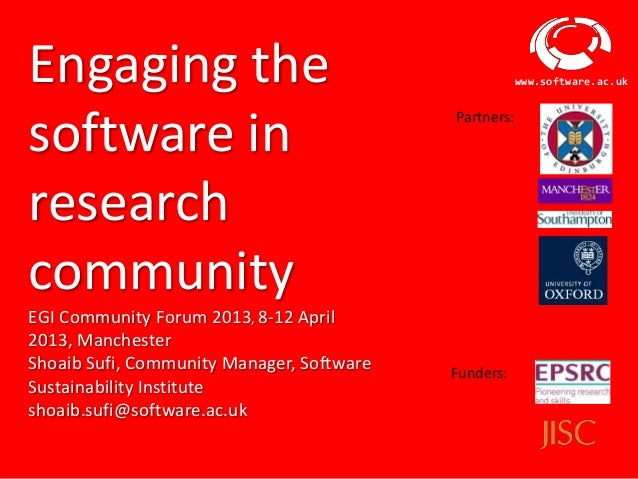 Engaging the                                                           www.software.ac.uksoftware in                      ...