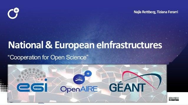 "@openaire_eu National&EuropeaneInfrastructures ""Cooperation for Open Science"" NajlaRettberg,TizianaFerarri"