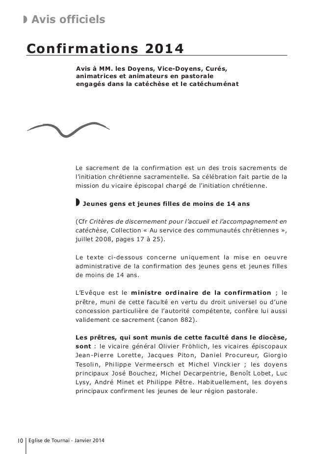 exemple de lettre pour l évêque confirmation Eglise de ty 2014 01 exemple de lettre pour l évêque confirmation