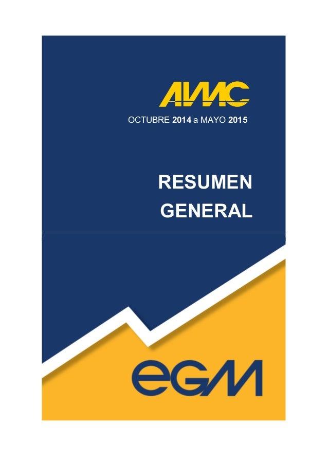 OCTUBRE 2014 a MAYO 2015 RESUMEN GENERAL
