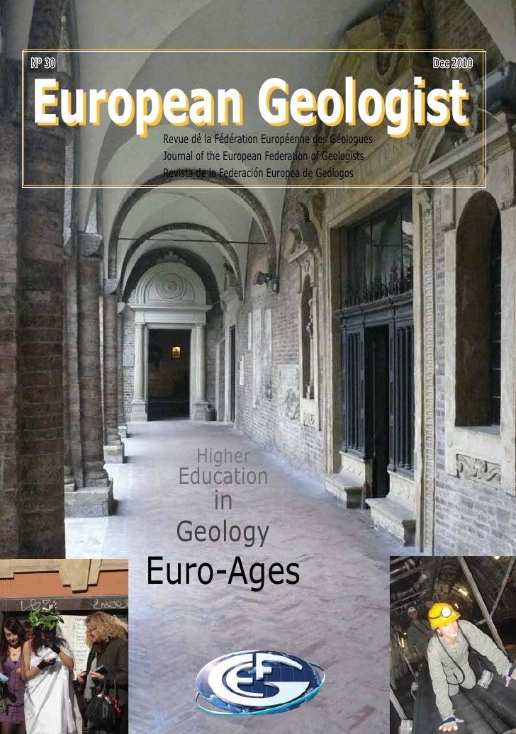 N° 30                                                       Dec 2010European Geologist         Revue dé la Fédération Euro...