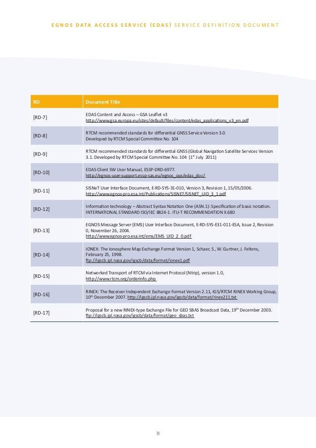 EGNOS Data Access Service (EDAS) v2.1