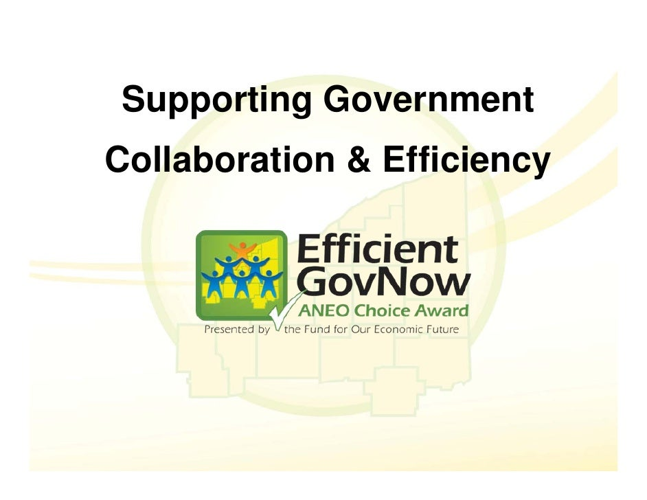 Supporting Government Collaboration & Efficiency