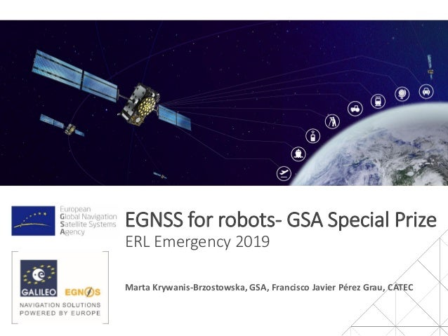 EGNSS for robots - GSA special prize